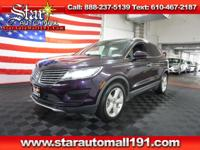 Clean CARFAX. Purple 2015 Lincoln MKC AWD
