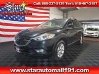 CARFAX One-Owner. Black 2015 Mazda CX-9 Touring AWD