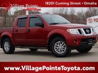 Red 2015 Nissan Frontier SV 4WD 5-Speed Automatic with