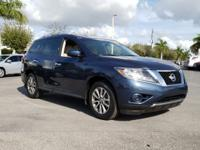 Clean CARFAX. Arctic Blue Metallic 2015 Nissan