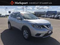 Clean CARFAX. Brilliant Silver 2015 Nissan Rogue SV AWD