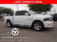 Ram Certified, ONLY 45,539 Miles! FUEL EFFICIENT 22 MPG