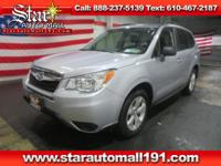 CARFAX One-Owner. Silver 2015 Subaru Forester 2.5i AWD