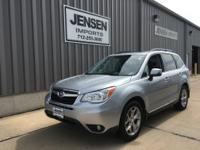 Here is a one owner 2015 Forester Touring with less