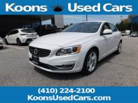 2015 Volvo S60 Crystal White Pearl T5 Platinum Leather,