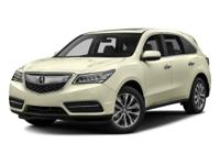 Lunar Silver Metallic 2016 Acura MDX 3.5L AWD 9-Speed