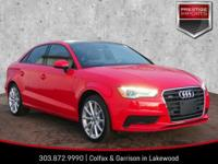 New Price! Brilliant Red 2016 Audi A3 2.0T Premium