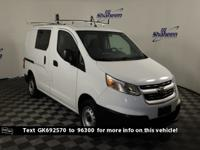 Clean CARFAX. White 2016 Chevrolet City Express 1LT FWD