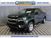 Woodland Green 2016 Chevrolet Colorado LT 4WD 6-Speed