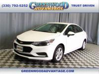 Summit White 2016 Chevrolet Cruze LT FWD 6-Speed