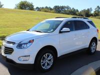 Clean CARFAX. Summit White 2016 Chevrolet Equinox LT