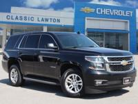 Clean CARFAX. Black 2016 Chevrolet Tahoe LT 4WD 6-Speed