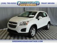 Summit White 2016 Chevrolet Trax LS AWD 6-Speed