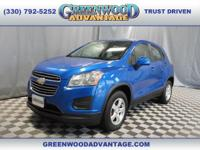 Brilliant Blue Metallic 2016 Chevrolet Trax LS AWD
