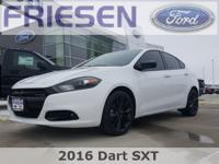 Bright White Clearcoat 2016 Dodge Dart SXT Clean