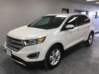 White 2016 Ford Edge SEL AWD 6-Speed Automatic with