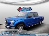 CARFAX One-Owner.2016 Ford F-150 XLT Blue Flame