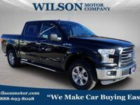 New Price! Black 2016 Ford F-150 XLT 4WD 6-Speed