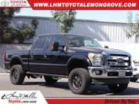 Black 2016 Ford F-250SD XLT 156 WB 4WD TorqShift