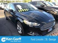 Black 2016 Ford Fusion SE FWD 6-Speed Automatic