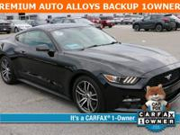 Black 2016 Ford Mustang EcoBoost RWD 6-Speed Automatic