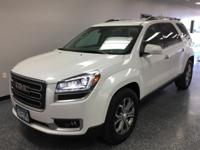 One Owner! Local Trade! White 2016 GMC Acadia SLT-2 AWD
