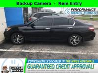 1-owner, Free CARFAX report!This 2016 Honda Accord