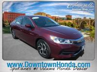 Certified. San Marino Red 2016 Honda Accord LX FWD CVT