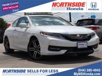 Certified. White 2016 Honda Accord Touring FWD 6-Speed
