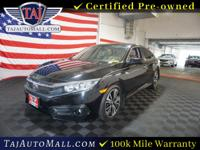 CARFAX One-Owner. Black2016 Honda Civic EX-T FWD 1.5L