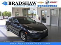 Aegean Blue Metallic 2016 Honda Civic LX KBB Fair