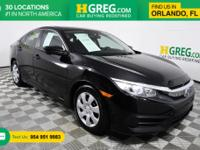 CARFAX One-Owner. Black/Gray w/Cloth Seat Trim. Priced