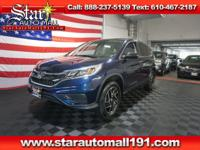 CARFAX One-Owner. Blue 2016 Honda CR-V SE AWD