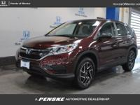 2016 Honda CR-V SE INCLUDES WARRANTY, SERVICE RECORD