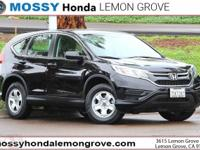CARFAX One-Owner. Crystal Black 2016 Honda CR-V LX FWD