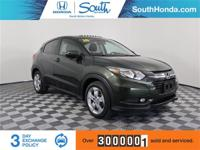 Clean CARFAX. 2016 Honda HR-V EX Green Odometer is 4421