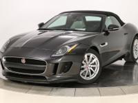 2016 Jaguar F-TYPE in Storm Gray over Cirrus
