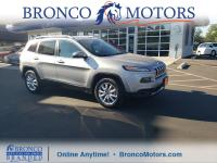 Gray 2016 Jeep Cherokee Limited 4WD 9-Speed 948TE