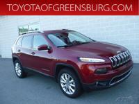 Deep Cherry Red Crystal 2016 Jeep Cherokee Limited 4WD