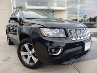 2016 JEEP COMPASS HIGH ALTITUDE, BLACK CLEARCOAT,