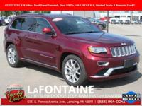 2016 Jeep Grand Cherokee Summit Velvet Red Pearlcoat