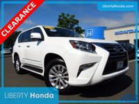 White 2016 Lexus GX 460 4WD 6-Speed Automatic with