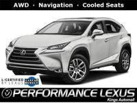 Lexus Certified! 1 owner, Free CARFAX report. AWD,