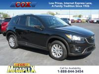 This 2016 Mazda CX-5 Touring in Jet Black Mica is well
