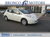 New Price! Pearl White 2016 Nissan Leaf S FWD Single