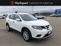 CARFAX One-Owner. Glacier White 2016 Nissan Rogue S AWD