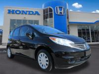 Super Black 2016 Nissan Versa Note SV FWD CVT with