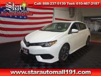 CARFAX One-Owner. Blizzard Pearl 2016 Scion iM FWD