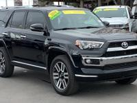 CARFAX One-Owner. Black 2016 Toyota 4Runner Limited 4WD