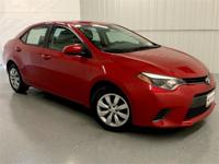 Absolutely Red 2016 Toyota Corolla LE FWD CVT 1.8L I4